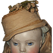 ~~~ Rare Early 1870 Poupee Bonnet for Huret , Rohmer or other Early Doll ~~~