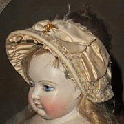~~~ Superb Early French Huret Era Poupee Bonnet ~~~