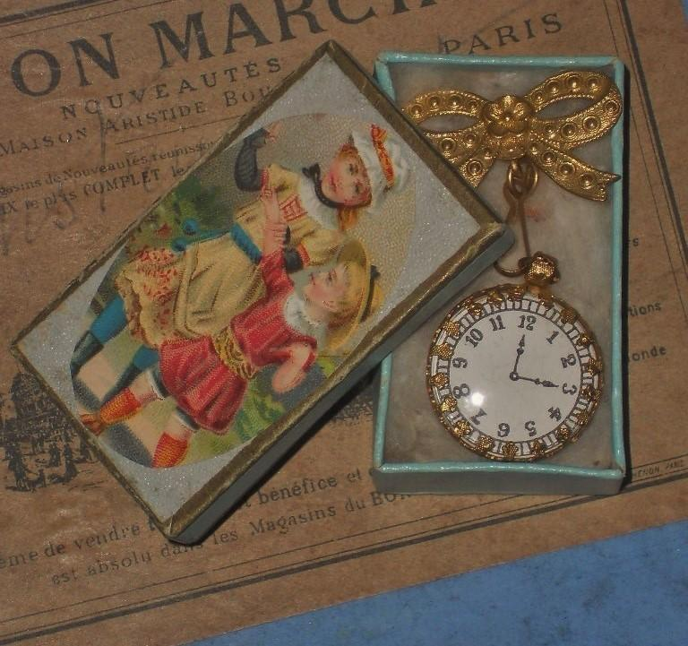 ~~~ Beautiful French Poupee Faux - Watch in Box ~~~