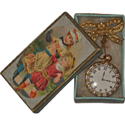 ~~~ Beautiful French Poupee Faux - Watch in Box ~~~