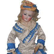 ~~~ Beautiful French Bisque Poupee Attributed to Gaultier ~~~