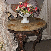 ~~~ Luxury French Miniature Poupee Table / 1865 ~~~