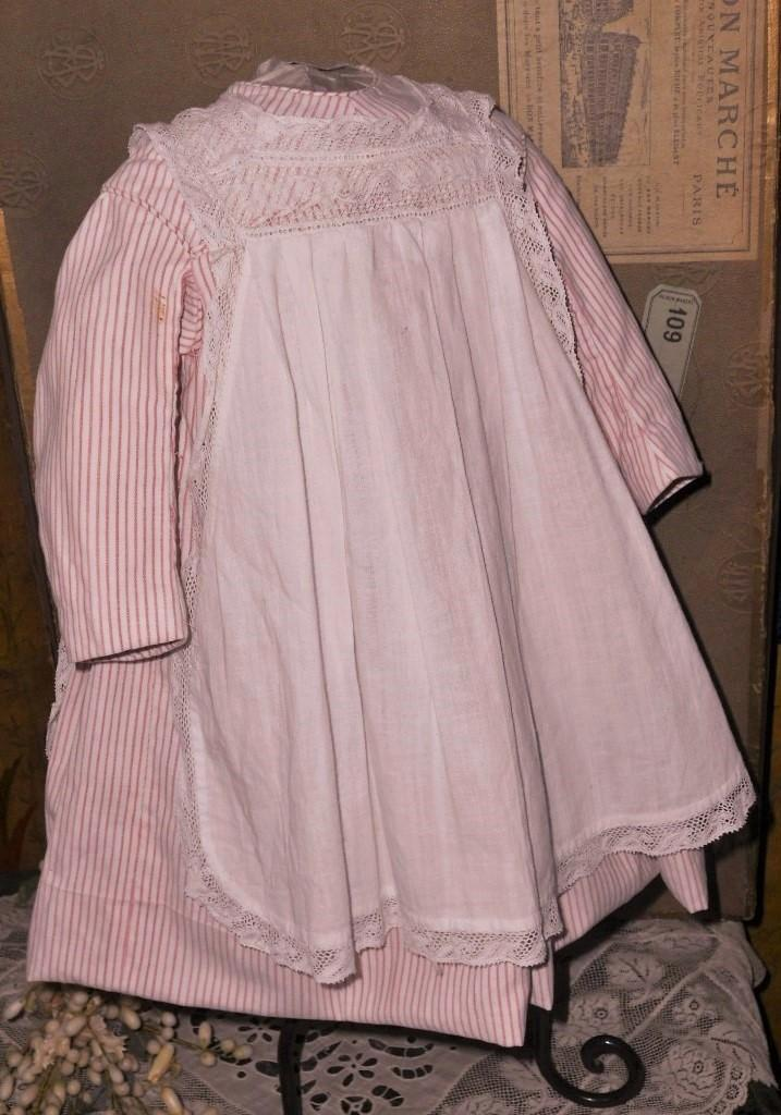 ~~~ Lovely Original Antique Apron Cotton Dress ~~~