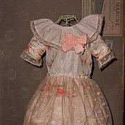 ~~~ Very Beautiful Original Antique Silk Dress with Ribbon-Work Decoration ~~~
