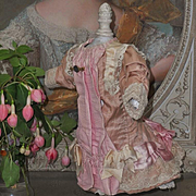 ~~~ Most Beautiful Antique French Silk Gown ~~~