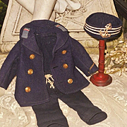 ~~~ Nice Antique Three Piece Navy Outfit ~~~
