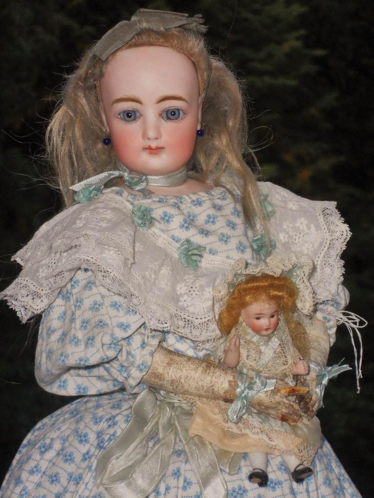 ~~~Reserved for S. //  Lovely French Bisque Poupee with Original Gown ~~~