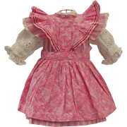 ~~~ Lovely Jumeau Three Piece Cotton Outfit from Trunk on Attic Found ~~~
