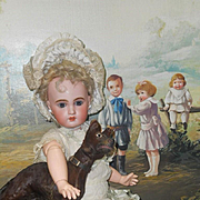 ~~~ Pretty French Bisque Bebe Jumeau in Lovely Antique Costume ~~~