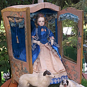 ~~~ Breathtaking All-Original French Poupee in Her Original Cabinet ~~~