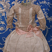 ~~~ Pretty Antique French Cotton Dress ~~~