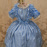 ~~~ Rare Antique Enfantine Poupee Gown for Huret , Rohmer or other early Fashion Doll ~~~
