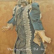 ~~~ Superb French Silk Costume for Jumeau or Bru Bebe ~~~