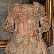 ~~~ Beautiful French Silk Bebe Gown size 11/12 Jumeau ~~~