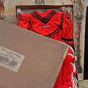 ~~~ Rare six-piece Jumeau Costume Size 9 from Au Louvre Paris ~~~