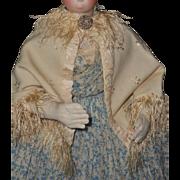 ~~~ Elegant Antique French Poupee Cashmere Woolen Day Cape ~~~
