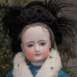 ~~~ Attic Condition Large French Bisque Portrait Poupee by Jumeau ~~~