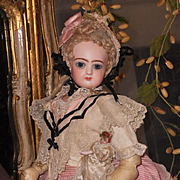 ~~~ Superb French Bisque Poupee like a Nanny by Jumeau with Baby ~~~