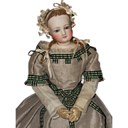 ~~~ Pretty French Bisque Poupee by Jumeau with Original Gown ~~~