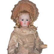 ~~~ Elegant Grand French Bisque Poupee with Gorgeous Costume ~~~
