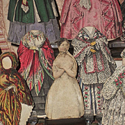 ~~~ Rare Psyche Paper Doll with many Wonderful Paper Clothing ~~~