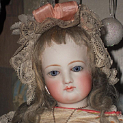 ~~~ Marvelous French Bisque Poupee by Jumeau with Gorgeous Gown ~~~