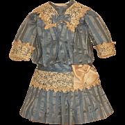 ~~~ Lovely Hand Sewn French Silk Bebe Dress ~~~