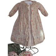 ~~~ Lovely French Antique Pique and Cotton Two Piece Dress ~~~