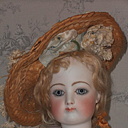 ~~~ French Antique Straw Bonnet  ~~~