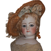 ~~~ French Antique Straw Bonnet  ~~~