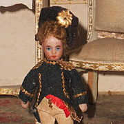 ~~~Factory all Original French Tiny Mignonette in Regimental Costume ~~~