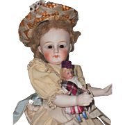 "~~~ Lovely 8,5"" All Bisque Bebe by Mystery Maker for France ~~~"