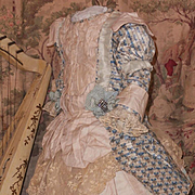 ~~~ Elegant size 12 Jumeau French Bebe Silk Costume ~~~