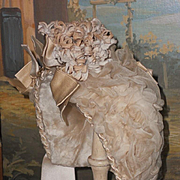 ~~~ Luxury French Bebe Lamb Wool and Silk Bonnet ~~~