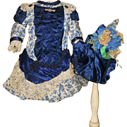 ~~~ Superb French Bebe Costume with Matching Bonnet ~~~