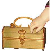 ~~~ Luxury French Poupee Covered Silk Bag for Huret , Rohmer .......~~~