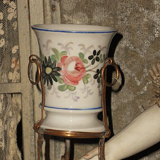 "~~~ Rare Miniature French ""Porcelain De Paris "" Vase ~~~"