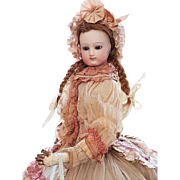 ~~~ Pretty French Bisque Poupee in Wonderful Gown ~~~