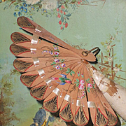 ~~~ Elegant Antique Poupee Fan with Hand Painting ~~~