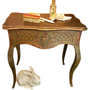 ~~~ Beautiful French Hand Painted Antique Dressing Table for French Fashion ... Jumeau , Huret , Rohmer or other ~~~