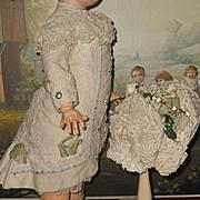 ~~~ Pretty French Pique Coat Dress with Bonnet ~~~