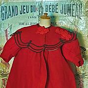 ~~~Jumeau Factory original Bebe Jumeau Wool Coat .... size 10 Bebe / 1880 ~~~