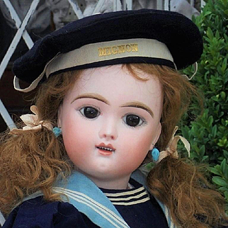 ~~~ Very Beautiful French Bisque Eden Bebe with rare Gentle Expression ~~~