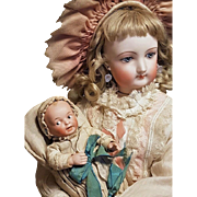 ~~~ Lovely French all Original All Bisque Baby ~~~