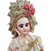 ~~~ Superb Rare First Period French Bisque Bebe Girl by Denamur ~~~