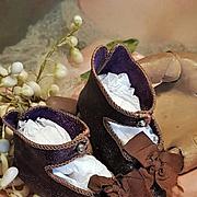 ~~~ Pretty Bebe Shoes of Maison Jumeau size 9 ~~~