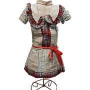 ~~~ Pretty French Doll Factory Dress at 19th. century ~~~