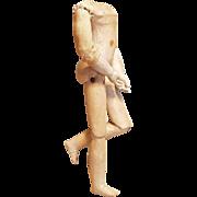~~~ Rare Twill over Wood Poupee Body from Attic Found ~~~