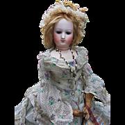 ~~~ Very Rare Poupee by Brasseur - Videlier in Fantastic Gown / 1863 ~~~