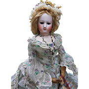 ~~~ Very Rare Poupee by Brasseur - Videlier in Fantastic Gown / 1863 ~~~